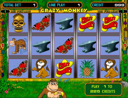 Ігровий автомат Crazy Monkey в клубі Вулкан
