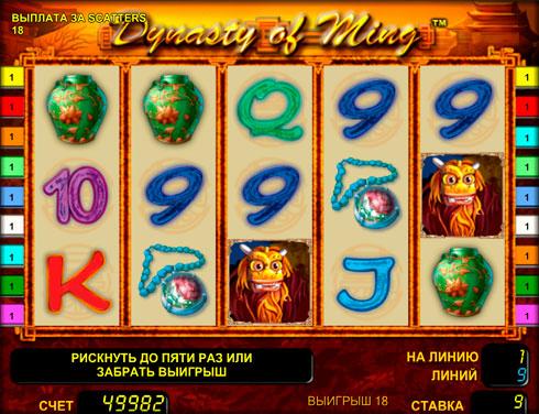 Ігровий автомат Dynasty of Ming на гроші в клубі Вулкан